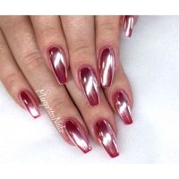 Rose Chrome Coffin Nails - Nail Art Gallery | Nageldesign ...