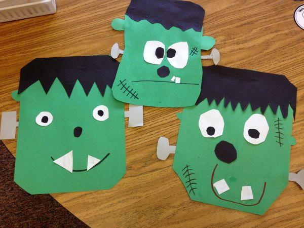 Halloween Frankenstein Crafts for Kindergarten