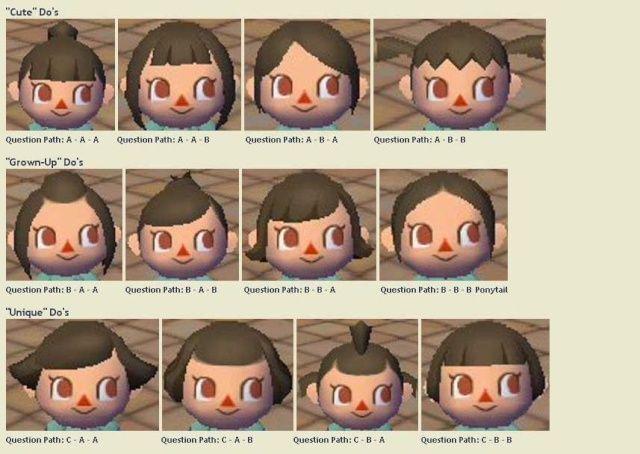 Interessante Animal Crossing Frisuren 2015 Frisuren Pinterest