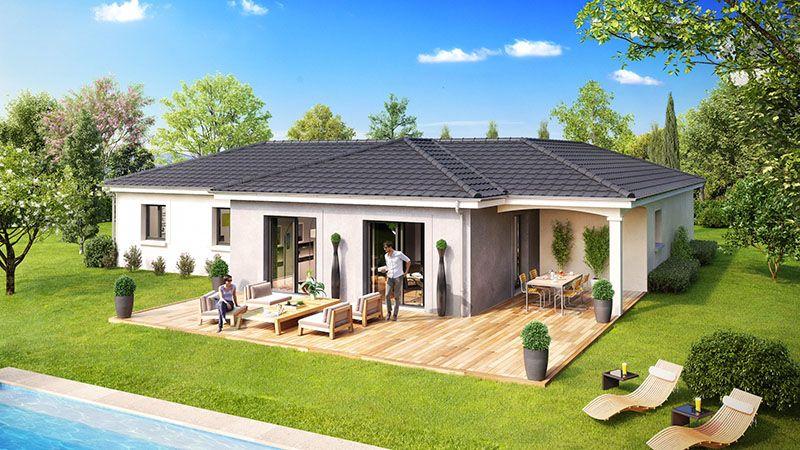 Maeva maison moderne de plainpied  Modles et plans de