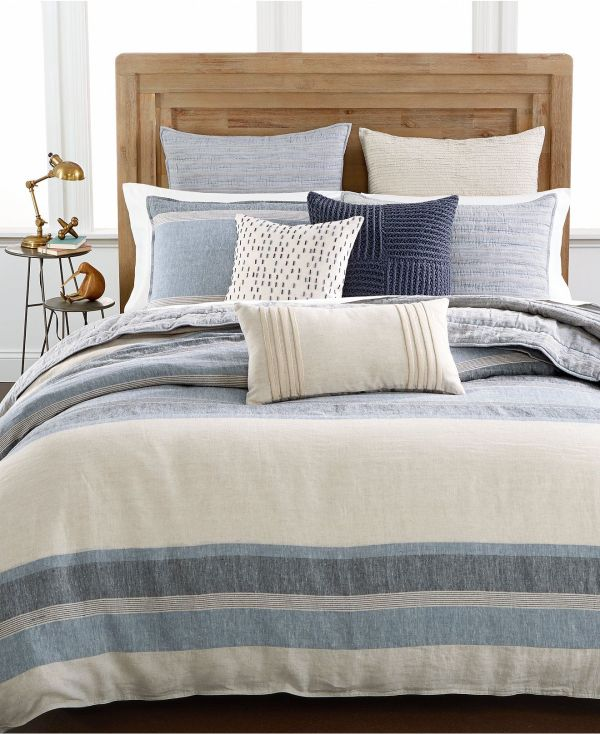 Hotel Collection Linen Stripe Duvet Covers Macy'