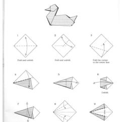 Origami Hummingbird Diagram Instructions One Light Two Switch Wiring Duck Pdf Pinterest Ducks