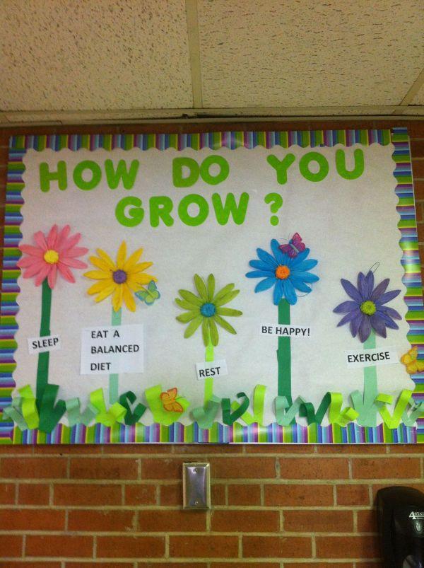 Spring Health Bulletin Board Ideas