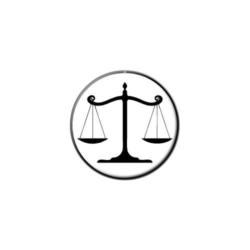 Balanced Scales of Justice Symbol Legal Lawyer White and