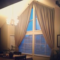 Angled curtains on Pinterest | Curtains, Cornice Boards ...