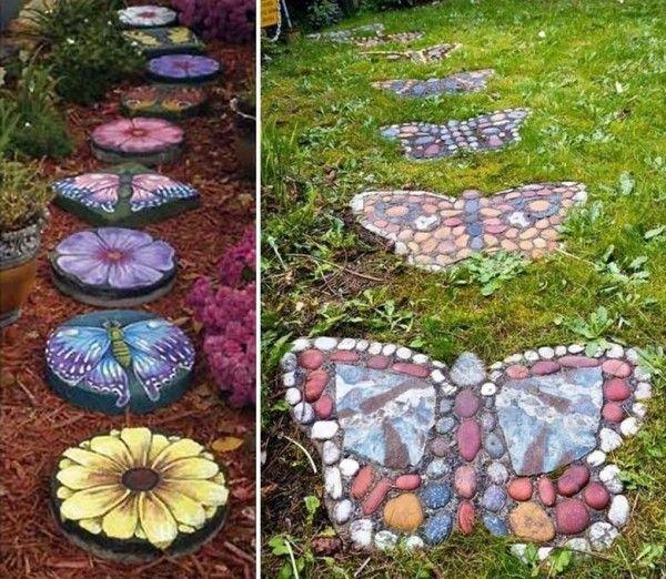 DIY Butterfly Shaped Garden Stepping Stones Find Fun Art