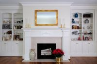 High-End White Custom Cabinetry by Ken Leech Todd Bookcase ...