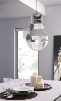 Ceiling lamp that looks like a giant light bulb! | product ...