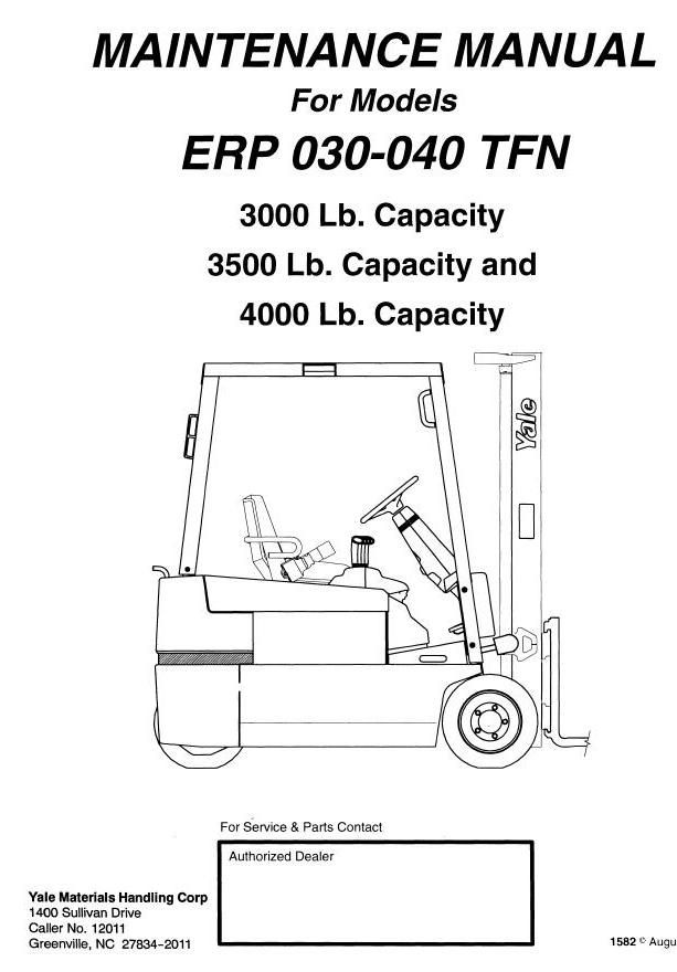 Yale Electric Forklift Truck: ERP030TFN, ERP035TFN