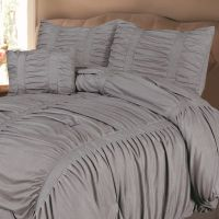 4pc Queen Bedding Set Ruched 677267038