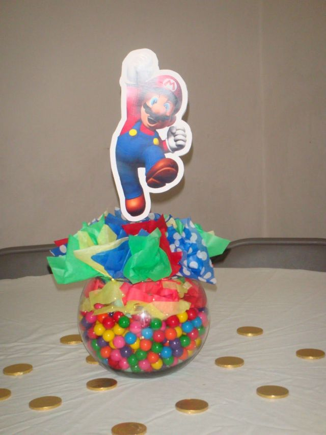 Mario centerpiece mario party ideas pinterest