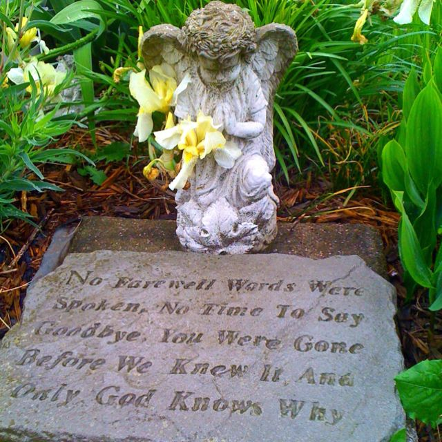 Sympathy Garden Stone Memorial Stone With Saying Gardens Them