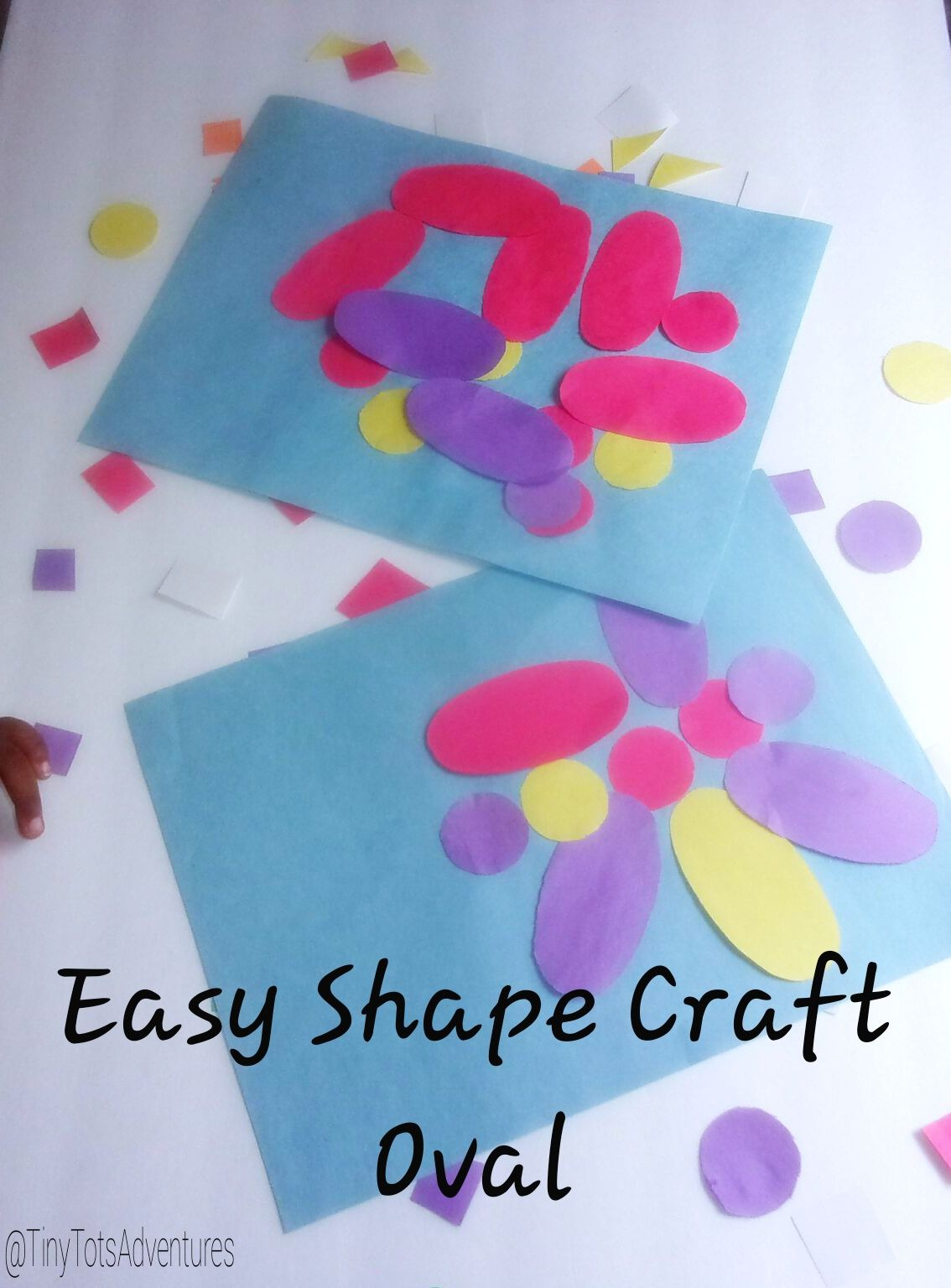 Easy Shap Craft Oval Make A Pretty Picture With The Shape Oval Great For Toddlers Learning