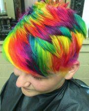 short & spunky rainbow