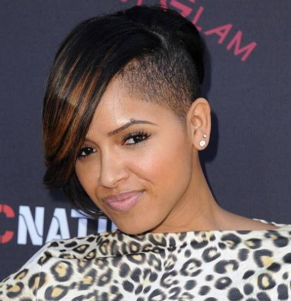 Shaved Sides Haircut Black Girl Hair Pinterest Shaved Side