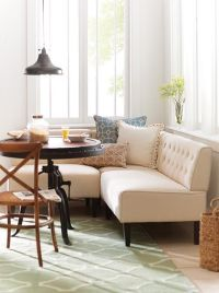 Easton Breakfast Nook. upholstered banquette. eat in