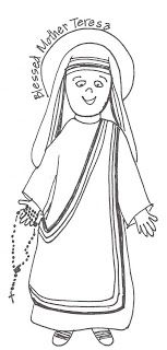 Look to Him and be Radiant: Saints Coloring Pages- Bl