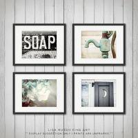 Rustic Bathroom Decor Set of 4 Prints Bathroom by ...