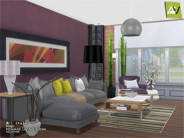 Furniture Newark Living Room By Artvitalex From The Sims Resource