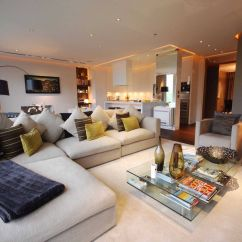 East London Sofa Cinema Paint On Leather Removal Idea For The Open Plan Lounge And Kitchen Room