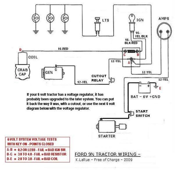 Long Tractor Wiring Diagram Ford Tractor Volt Conversion Wiring
