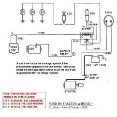 1952 Ford 8n Tractor Wiring Diagram Briggs And Stratton Lawn Mower Carburetor 9n 6 Volts Great Installation Of 12 Volt Conversion Free Diagrams 2n