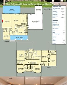 Architectural designs craftsman house plan vv with board and batten siding porches it is also bed rh pinterest