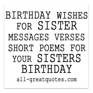 Birthday Wishes For Sister. Messages to make Her day Happy