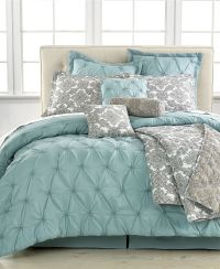 Jasmine Blue 10 Piece California King Comforter Set - Bed ...