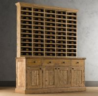 Salvaged Wood Vintner's Hutch   Wood Shelving & Cabinets ...
