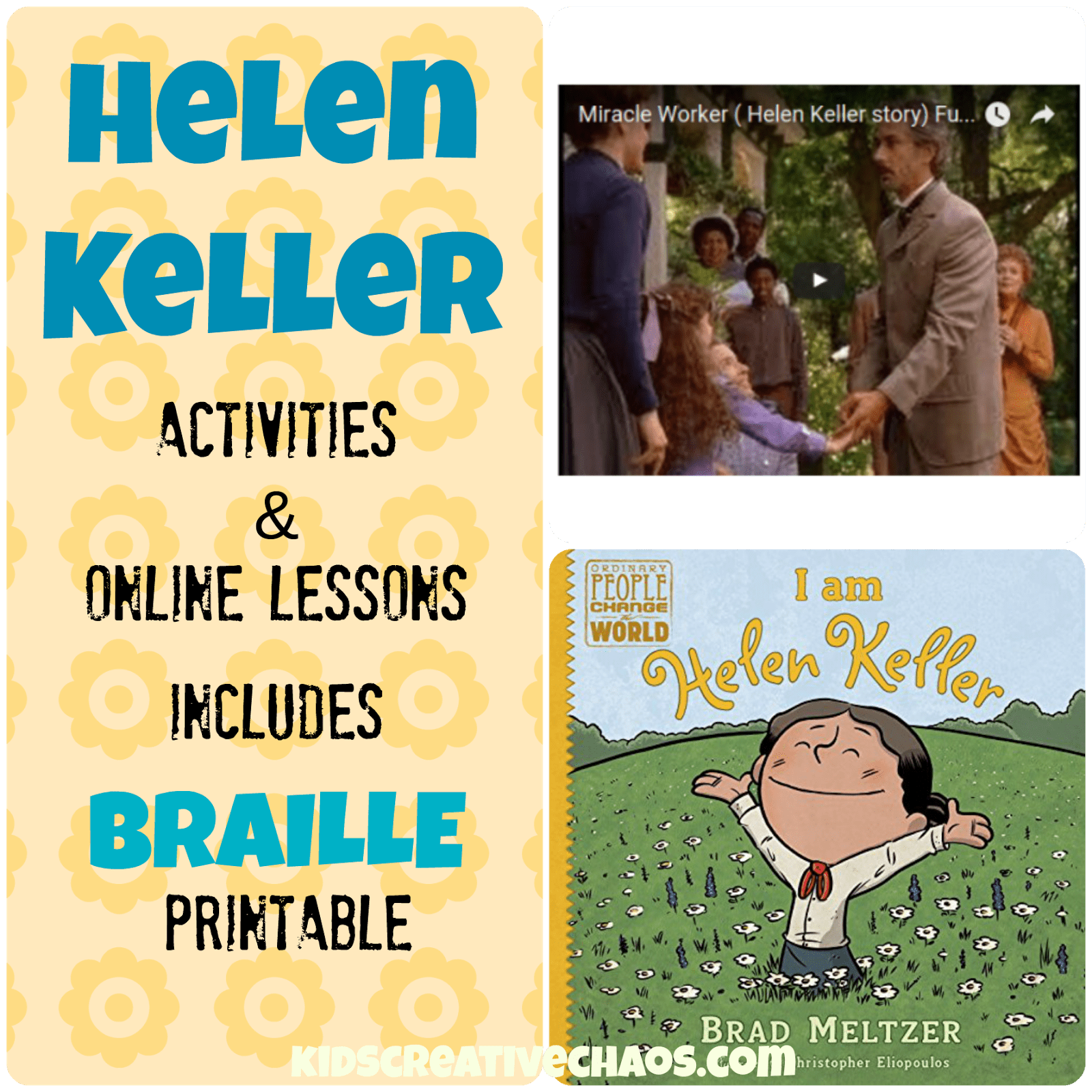 Helen Keller Lesson Plans Elementary Middle School