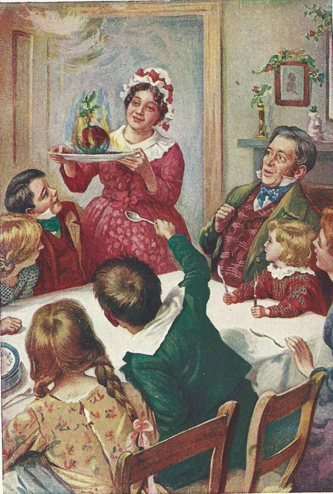 Dickens Bob Cratchits Christmas Dinner By Harold