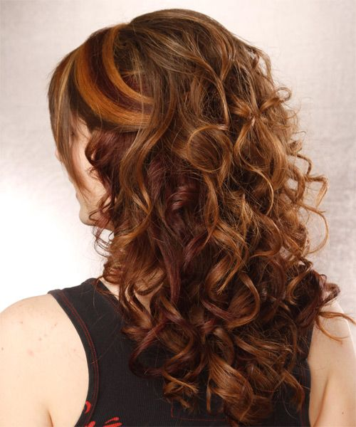 Fancy Elegant Hairstyles With Bangs Formal Half Up Long Curly