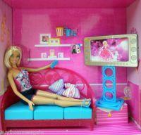 Barbie Living Room Girls Night In Doll Furniture Pink Sofa ...