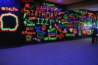 Neon Paint Graffiti Wall Black Light