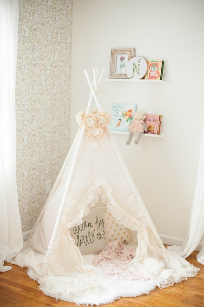 Baby Girl Nursery Removable Wallpaper Home Whimsical Bohemian Nursery Update Whimsical