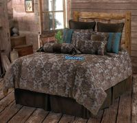 Western Rustic Country Fleur De Lis Comforter Set