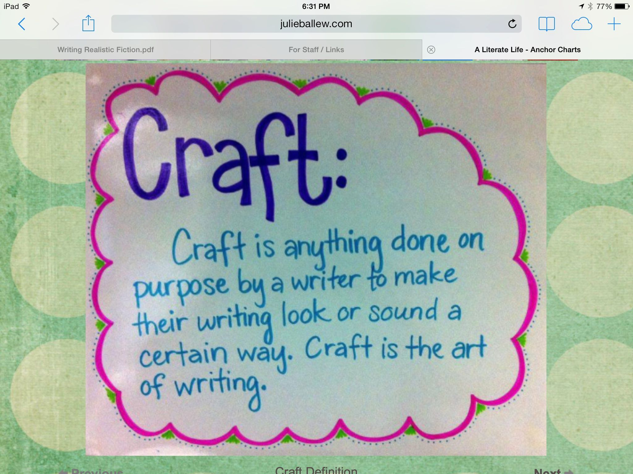 Author S Craft