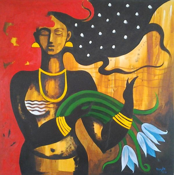 Abstract Oil Painting Indian