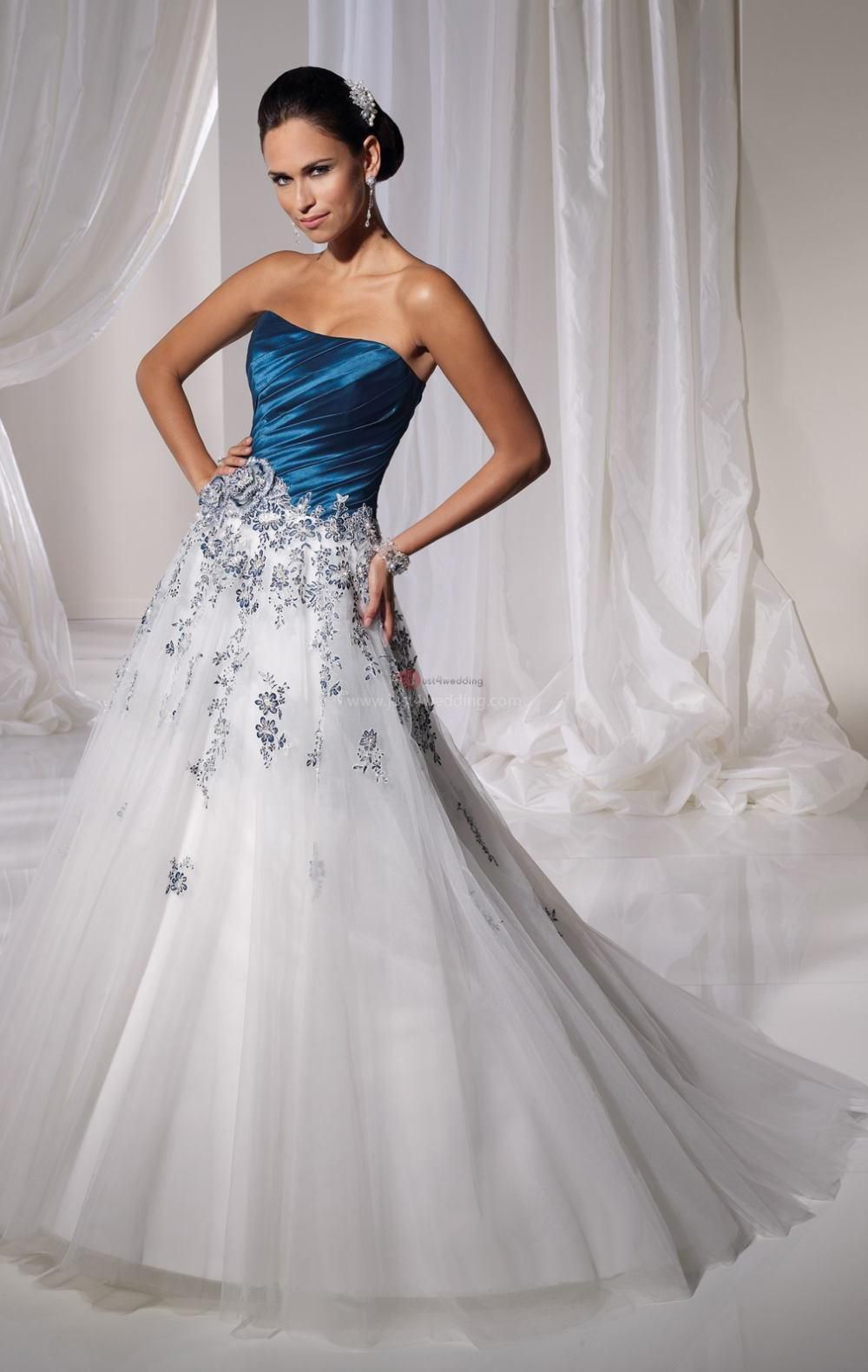 A light blue or turquoise sash would look absolutely gorgeous on a white wedding dress  future