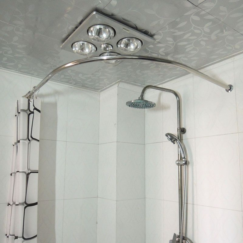 Copper Thickening Sus304 Stainless Steel L Shower Curtain Rod