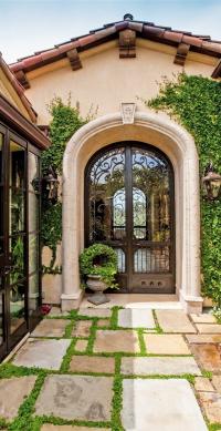 tuscan, mediterranean , iron entry door | Old World ...