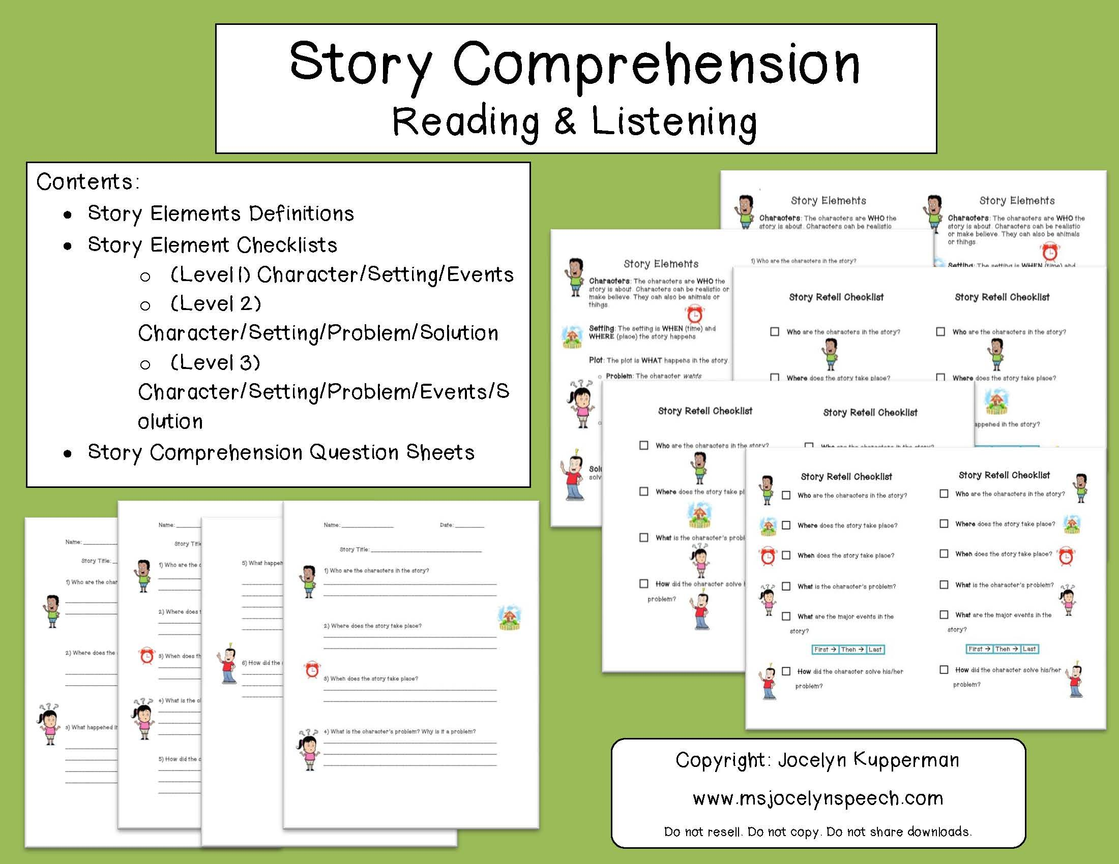 Story Comprehension Reading Amp Listening
