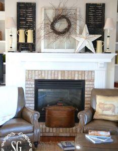 Simple farmhouse style also best images about mantel decor on pinterest mantels mantles rh