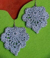 Silver Leafes | Crochet earrings and Crochet