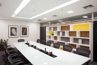 White Decoration Business Conference Room With 22 Cozy ...