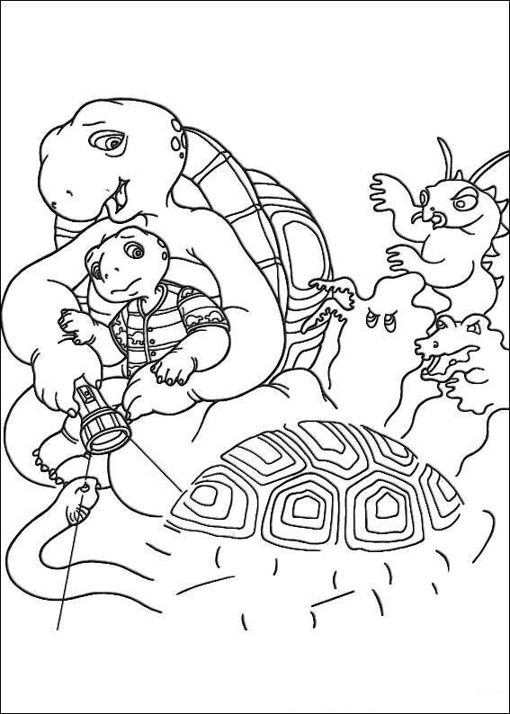Franklin the Turtle Kids Coloring Pages and Free Colouring