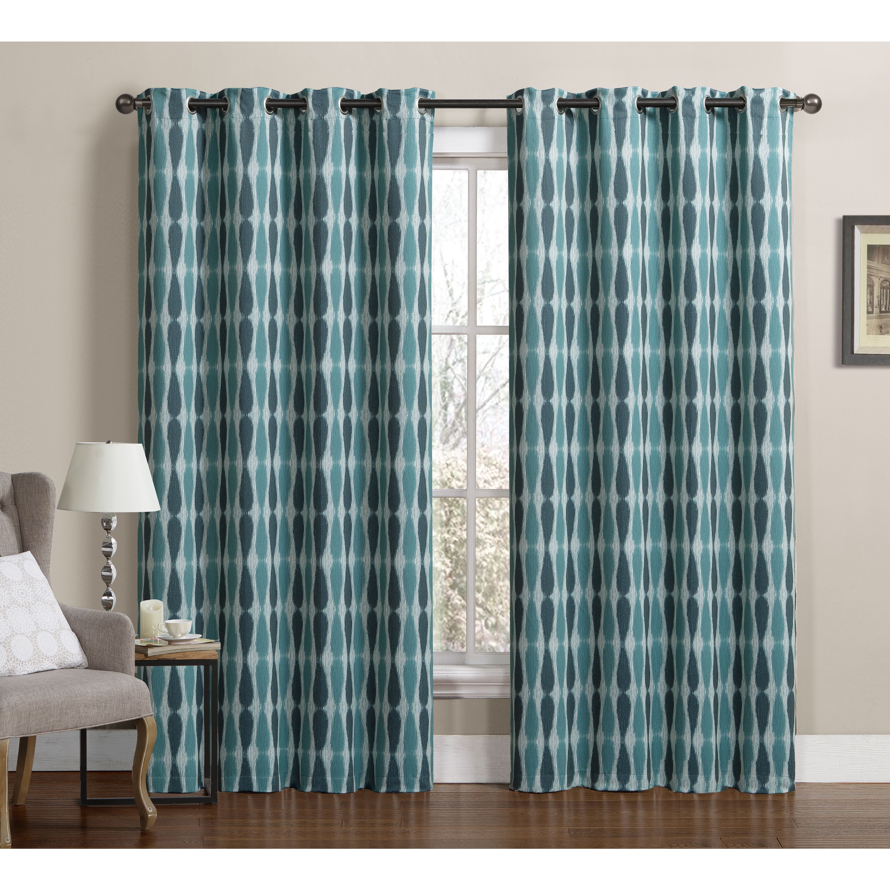 Delightful VCNY Monsoon Grommet Top Blackout Curtain Panel Pair By VCNY