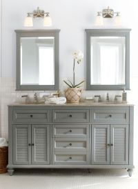 Gorgeous in grey. Double the fun, this bath vanity is a