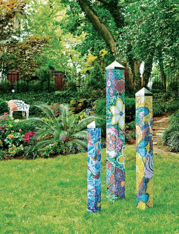 Peace Garden Poles Art